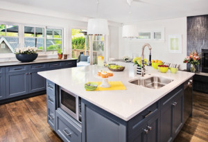 Gray family kitchen