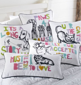 Pillows to help the ASPCA